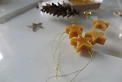 Dobrý obchod - Ozdoby z včelieho vosku - hviezdičky - 12665714_