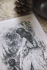 Kresby - Víla tancujúca so škriatkom Art Print - 12661389_