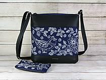 Kabelky - Modrotlačový set Dara XL čierna AM - 12665162_