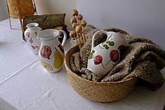 Nádoby - Veľký džbán Majolika (Cvikla a hrášok) - 12664590_