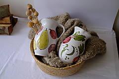 Nádoby - Veľký džbán Majolika (Cvikla a hrášok) - 12664591_