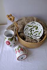 Nádoby - Tanier Majolika (Hrášok) - 12664652_