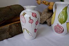Nádoby - Váza Majolika s reďkovkami - 12664868_