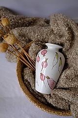 Nádoby - Váza Majolika s reďkovkami - 12664879_