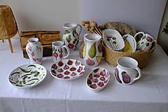 Nádoby - Váza Majolika s reďkovkami - 12664880_
