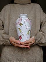 Nádoby - Váza Majolika s reďkovkami - 12664887_