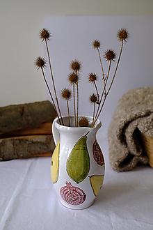 Nádoby - Veľký džbán Majolika (Hrušky a granátové jablká) - 12664531_