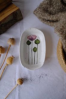 Nádoby - Hranatá miska Majolika (Maky) - 12664999_