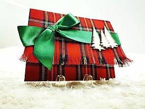 Papiernictvo - Vianočná pohľadnica s kapsou - 12666272_