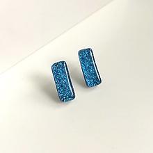 Náušnice - napichovačky z dichroického skla - modré2 - 12662962_