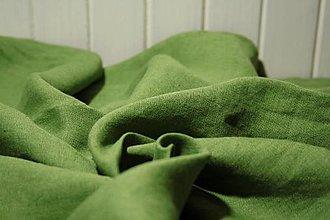 Textil - Ľanové plátno zelené 5bm - 12668182_