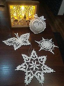 Dekorácie - Sada nežne krásnych vianočných ozdôb - 12671649_