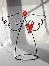 Dekorácie - anjel...srdečná záležitosť - 12670713_