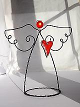 Dekorácie - anjel...srdečná záležitosť - 12670749_