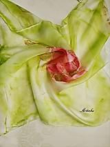 Šatky - Šatka hodvábna - rose - 12667037_