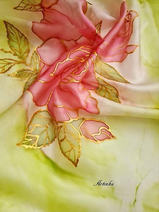 Šatka hodvábna - rose