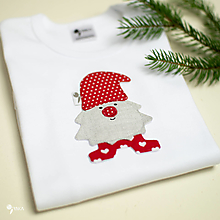 Detské oblečenie - body TRPASLÍK FLORIÁN - červená čiapka (dlhý/krátky rukáv) - 12667550_