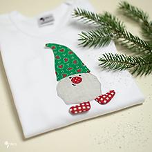 Detské oblečenie - body TRPASLÍK SILVESTER - zelená čiapka (dlhý/krátky rukáv) - 12669153_