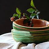Nádoby - Set drevených bukových misiek - zelená - 12670490_
