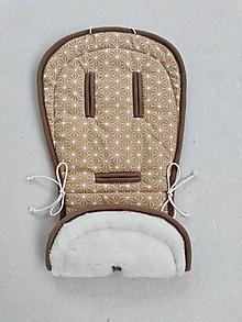 Textil - VLNIENKA podložka do kočíka VALCO SNAP 4 Trend 100% merino top super wash proti poteniu ORIGAMI HORČICOVÁ - 12669026_