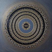 Obrazy - Mandala NEKONEČNÁ LÁSKA A ŠŤASTIE ♥ (gold) 80 x 80 - 12671660_