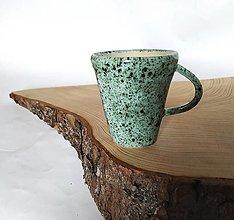 Nádoby - Šáločka na kávičku štíhla - zelenkavá - 12669634_