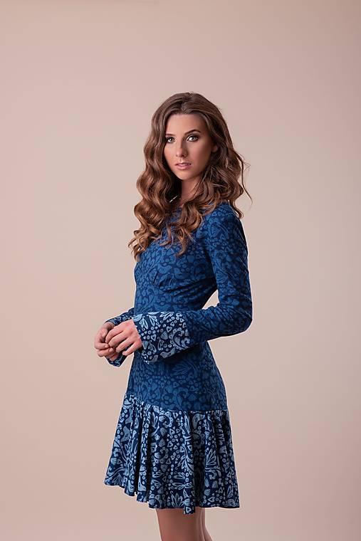Šaty - Kolekcia Inšpirácie - modrotlač - 12669262_