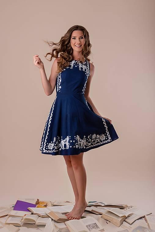 Šaty - Kolekcia Inšpirácie - modrotlač - 12669319_
