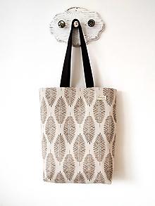 Veľké tašky - Taška listy natur - 12667587_