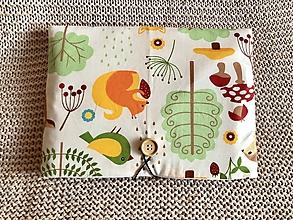 Papiernictvo - Obal na knihu - zvieratká z lesa - 12669802_