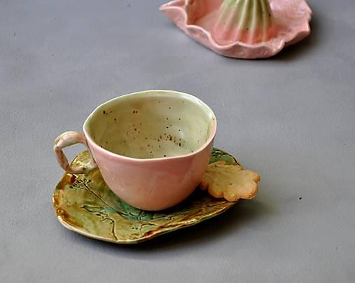 šálka, hrnček  ružovo zelená malá SA2