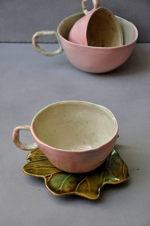 šálka, hrnček ružovo zelená stredná SA 4