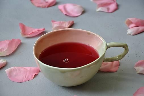 šálka, hrnček ružovo zelená stredná SA 5