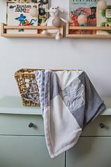 Textil - Dečka pre bábätko s minky - 12669202_