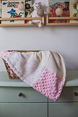 Textil - Dečka pre bábätko s minky - 12669203_