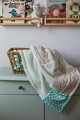 Textil - Dečka pre bábätko s minky - 12669204_