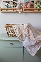 Textil - Dečka pre bábätko s minky - 12669207_