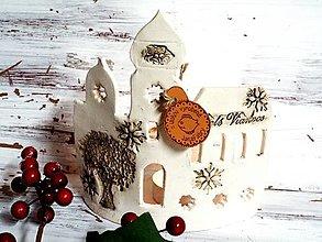 Socha - Vianočné domčeky-svietniky (15x17) - 12668678_