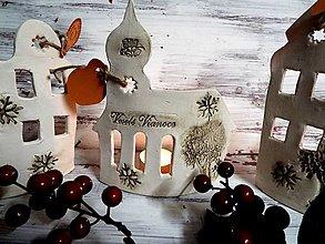 Socha - Vianočné domčeky-svietniky (13X17) - 12668681_
