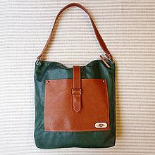 Veľké tašky - Leather TOTE bag no.1 - 12668806_
