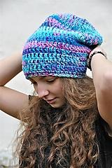 Čiapky - Háčkovaná čiapka Arleta - 12669100_