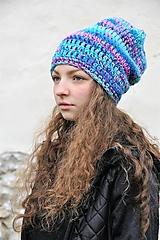 Čiapky - Háčkovaná čiapka Arleta - 12669104_