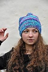Čiapky - Háčkovaná čiapka Arleta - 12669110_