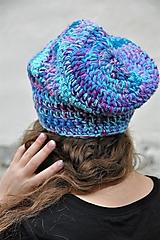 Čiapky - Háčkovaná čiapka Arleta - 12669115_