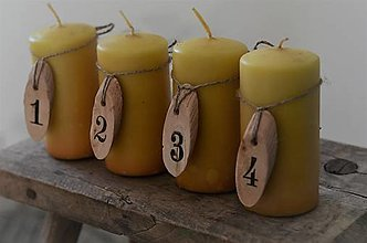 Dekorácie - Drevené čísla na sviečky - 12675500_