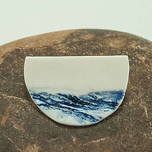 Odznaky/Brošne - song of the sea / Blue-and-White Porcelain - 12673812_