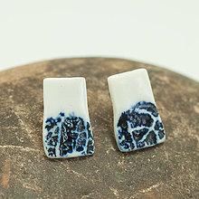Náušnice - blue breath / Blue-and-White Porcelain - 12673905_