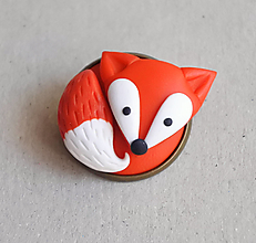 Odznaky/Brošne - Líštička brošnička (Oranžová) - 12672979_
