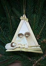Dekorácie - Svätá rodina - trojuholník závesný - 12676010_