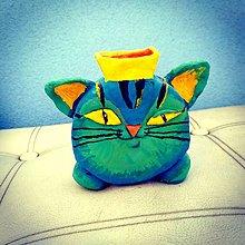 Dekorácie - Vázička - mačka, keramika - 12673961_